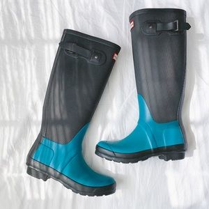 Hunter original refined tall rain boots